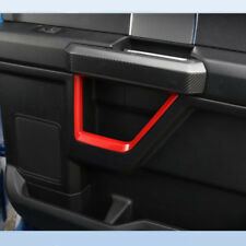 For Ford F150 2015 - 2018 Car Interior Door Grab Handle Cover Trim Frame ABS Red
