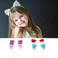 Women Baby Girl Hair Hoop Flower Headband Party Accessories Cat Ear Hairband