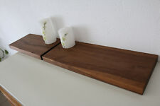 2x Wandboard Nussbaum Massiv Holz Board Regal Steckboard Regalbrett NEU Brett
