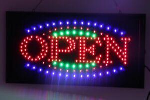LARGE LED NEON OPEN Sign for SHOP, SIZE: 55CM X 33CM 240V SAFE Australian Plug