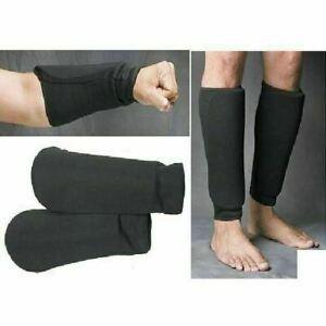 Taekwondo Shin and Forearm Guards Set Cloth Protection Pads Tkd MMA