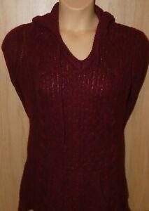 size 18 burgundy chunky knit hooded jumper dress