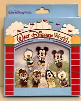 Disney World 7-Pin Boxed Set features Mickey Minnie Chip Dale Daisy Goofy Donald