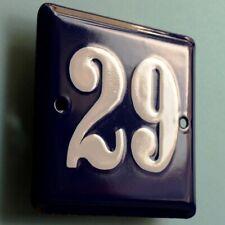 HAUSNUMMER 29 = Altes Emailschild um 1955 PERFEKT Eingang Haustür Türschild FETT