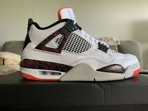 Air Jordan 4 Retro Basketball Shoes 308497-116 Men's Size 10 Nostalgia (CLEAN)