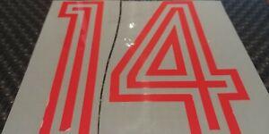 "Genuine Print 1 pair # 14 red / black or white option - size 10"" X 6"""