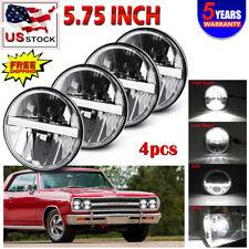 "4PCS DOT 5 3/4"" 5.75"" Projector LED Headlights Sealed Beam Lamp Bulbs Hi/Lo+DRL"