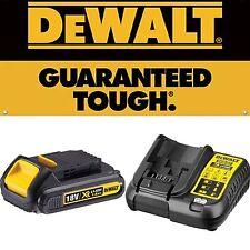 DeWalt DCB107 18v Volt XR Li-Ion Battery Charger & DCB181 18 v 1.5Ah Battery Set