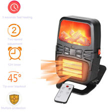 1000W Mini Flame Heater Electric Space Fan Heater with Thermostat Remote control