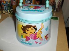 Dora & Boots`Blue Metal Purse`With Bead Handle`New-The Tin Box Co-> Free To US