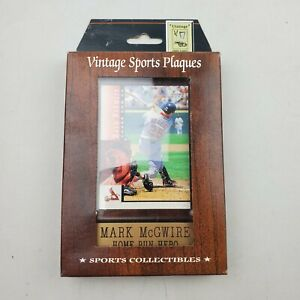 Vintage Sports Plaques Mark McGwire 1998 Upper Deck Home Run Hero New Sealed
