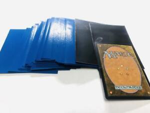 Lenayuyu 100pcs Blueblack Protector Standard MTG Card Sleeves 66x91mm Glossy