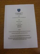 05/10/2013 Portsmouth v Rochdale - Match Day Hospitality Menu, A5 Colour, Card S