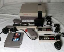 Original NINTENDO NES Console Zapper Bundle 1 w/ SUPER MARIO BROS/Duck Hunt game