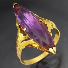 Colour Change 22k Solid Yellow GOLD MARQUISE ALEXANDRITE / SAPPHIRE RING Sz P1/2