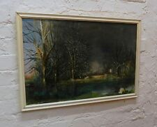 1960s olio impressionisti Forest LAKE - 0eu