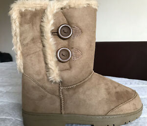 Womens Ladies Comfortable Fury Boots