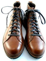 "Allen Edmonds ""ALPINE"" Lace-to-Toe WEATHERPROOF Boots 10 D Tan USA (519)"