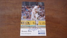 RONNIE IRANI HAND SIGNED ENGLAND 6x4 INCH CRICKET CARD