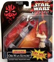 Star Wars The Phantom Menace Deluxe Obi-Wan Kenobi Action Figure damaged box