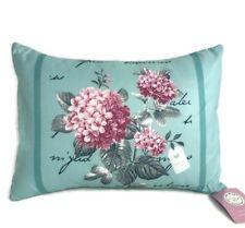 Vintage Teal Floral Boudoir Bedroom Rectangular Cushion 30x50cm Bounce Back Pad