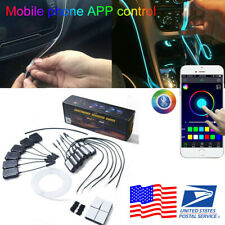 NO Threading RGB LED Strips Ambient Light For Car Interior Atmosphere Light Lamp