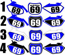 Graphics for 2003-2005 Yamaha YZ250f 450f Number Plates Side Panels Decal