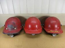 Vtg Honeywell Fibre-Metal Fiberglass Construction Safety Duck Bill Hard Hats (b)