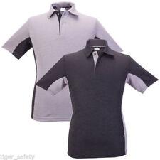 Camisetas de hombre de manga corta negra de poliéster