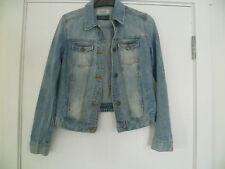 ZARA taille S femme bleu en jean effet vieilli Veste en jean très bon état