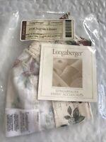 Longaberger 2006 Nature's Berry Basket Fabric Liner Holiday Botanical 23364270