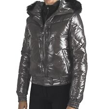 New $700 Rossignol Women's Liz Down Shiny Ski Jacket - Genuine Fox Fur, Medium