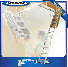 Werner Attic Ladder  Aluminium  Folding Ladder 2.3m-3.1m AH2210AZ