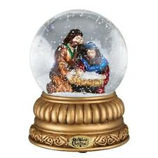 HOLY FAMILY NATIVITY OLD WORLD CHRISTMAS GLASS LIGHT UP SNOW GLOBE NIB 54000