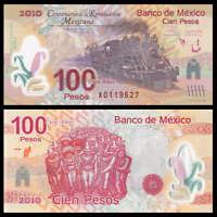 Mexico 100 Pesos, 2007(2010), P-128, 100th COMM., Polymer, Banknote, UNC