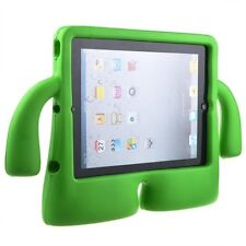 Green 3D Kids Cute Children Stand Protective Soft Grip Cover Case for iPad 2/3/4