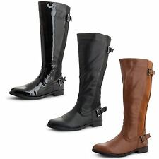 Unbranded Women's 100% Leather Block Knee High Boots
