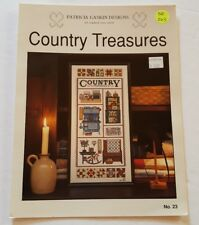 COUNTRY TREASURES Patricia Gaskin Designs OOP 1994 Cross Stitch Pattern DA263