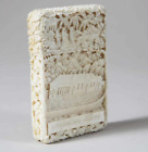Exceptional Chinese Export Qing Dynasty Carved Napoleon House/Tomb Card Case
