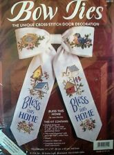 NEW COUNTED CROSS STITCH KIT BLESS THIS HOME BOW TIES BY JOAN MARCHIE