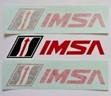 "2 IMSA Stickers International Motorsports Association Transfer Sticker Decal 8"""