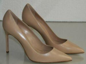 NEW Manolo Blahnik BB 105 Leather NUDE Light Beige Pumps Heels Shoes 41.5