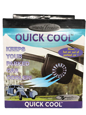 Car Fan Solar Powered, Ventilation System  Handy Trends Quick Cool 00537