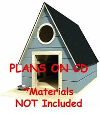 """36"""" x 44"""" Dog House Plans - Gable Roof - Pet Size Up To 100 lbs - Med. Dog - 03"""