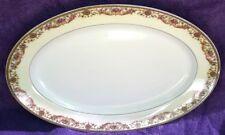 "#2 Haviland ARCADIA 13"" Oval Serving Platter Cream Rim No Birds Schleiger 923"
