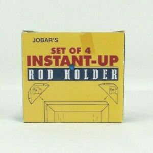 Insant- Up Curtain Bracket Rod Holder Set of Four by Jobar Free Ship Brand New