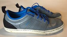 Rare Adidas Originals AR-D1 Low Gray Leather Royal Blue Sz 10 Sneakers Shoes