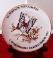 ROLF TREMMEL Butterfly Plate 1984 STUTTGART ZUFFENHAUSE