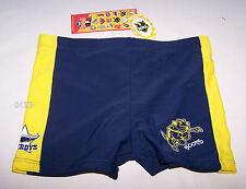North Queensland Cowboys NRL Boys Blue Printed Swim Trunk Bathers Size 3 New