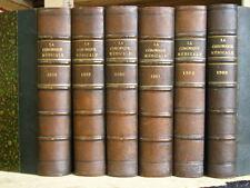 Dr CABANES LA CHRONIQUE MEDICALE ANNEES 1898 à 1903 en 6 VOL HISTOIRE MEDECINE